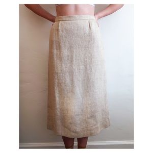 Vintage Cream Tweed Pencil Skirt